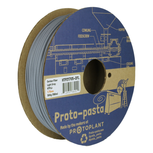 Proto-Pasta HTPLA Carbon Fiber Composite HTPLA 3D Filament - Light Gray 1.75mm