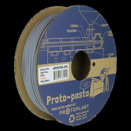 Proto-Pasta HTPLA Carbon Fiber Composite HTPLA 3D Filament - Light Gray 1.75mm