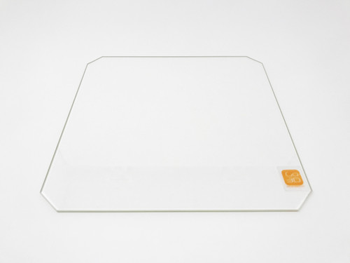 300mm x 300mm Borosilicate Glass Plate w/Corner Cut for 3D Printing