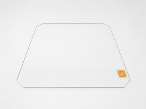 300mm x 300mm Borosilicate Glass Plate w/Corner Cut for 3D Printing