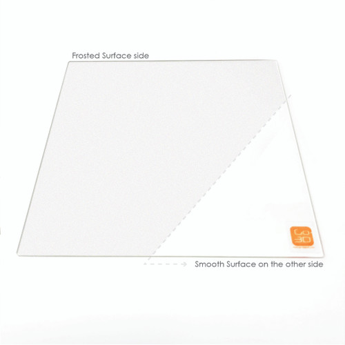 220mm x 220mm Frosted Borosilicate Glass Plate for 3D Printing