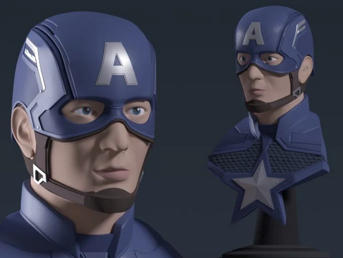 Captain America Bust + Helmet - Avengers: Endgame