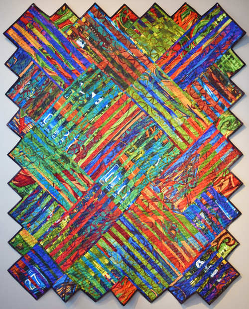 Between the Lines in Street Smarts Finished Quilt