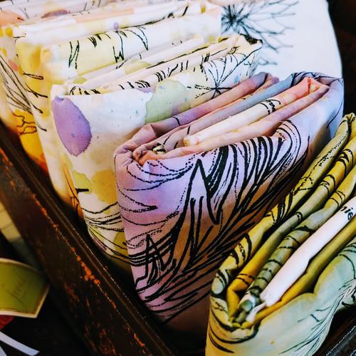 1 Yard Bundle Hand Painted Fabric - 56 inch Width