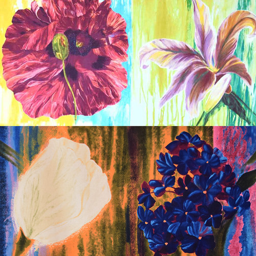 Flower Panel Pack & Color Variety Fat Quarter Pack