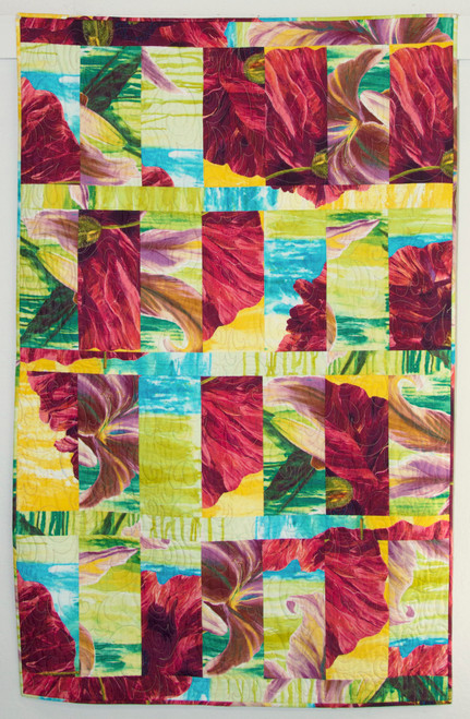Control Panel Lily and Poppy Quilt Kit