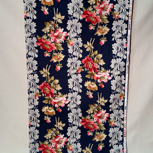 Vintage Floral and Lace in Navy