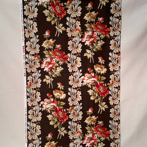 Vintage Floral and Lace in Chocolate