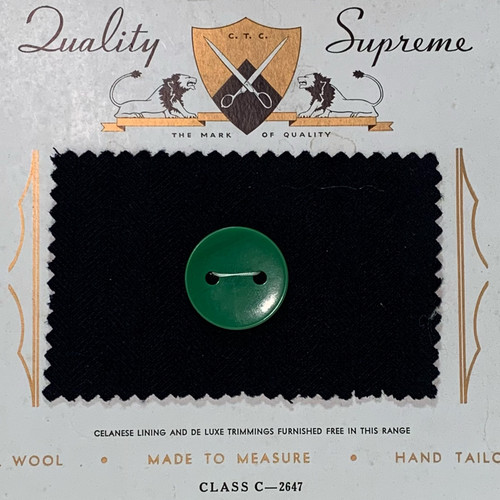 Forest Green Large Button