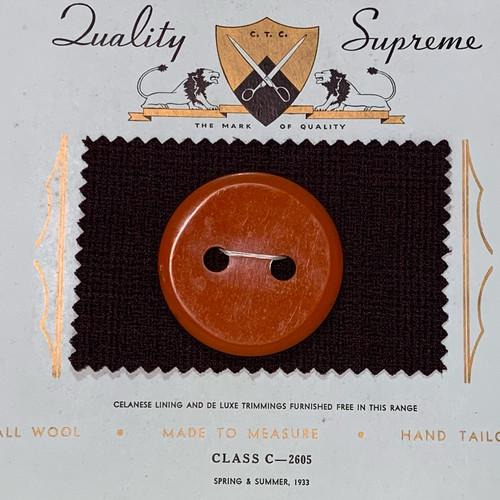 Oversized Glossy Orange Button