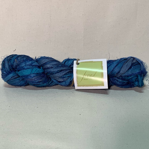 Carolina Blue - Sari Silk Ribbon