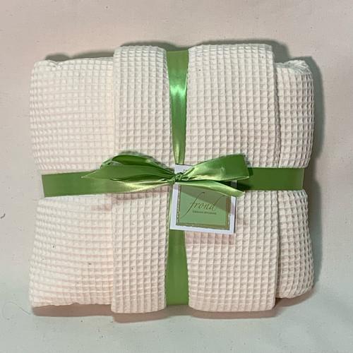 Ivory Waffle Fabric
