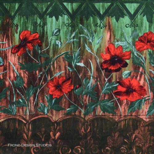 Jardiniere: Poppies - Red