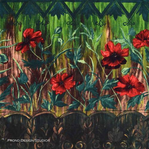 Jardiniere: Poppies - Terra Cotta