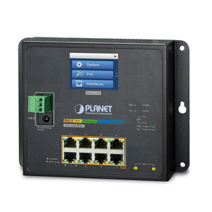8GE PoE + 2SFP + Touch LCD L2 Industrial PoE Switch