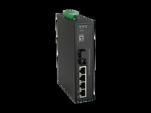4FE PoE + 1 SM BIDI SC 40KM Unmanaged Industrial PoE Switch