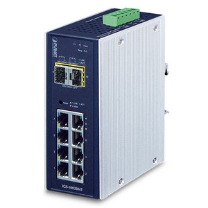 8 x GbE + 2 x 1G/2.5G SFP L2+ Managed Industrial Switch