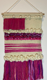 Learn to weave a wall hanging or cushion