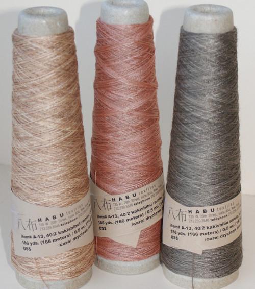 Kakishibuf ramie in 3 natural colours