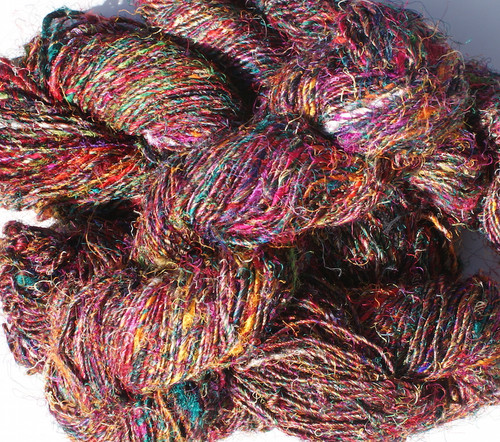 Recycled cotton, silk and other fibres