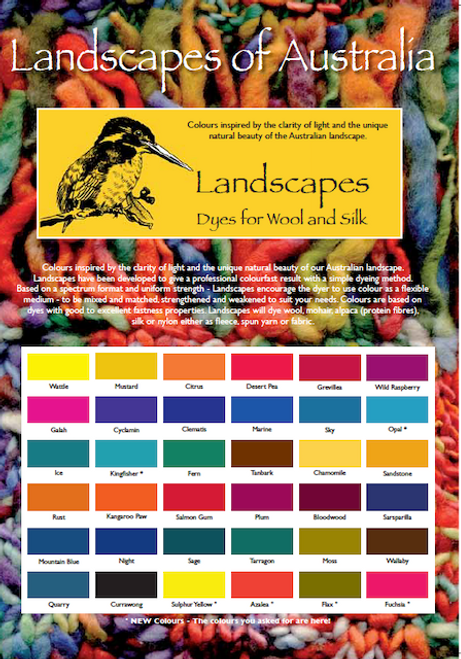 Kraftkolor Landscapes - Colour Chart and Dye Instructions