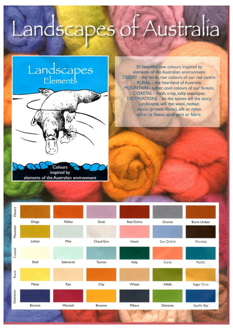 Landscapes Elements 100 grams - Wool Dyes