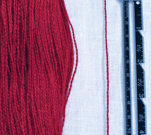 Fine 2 ply lace weight yarn