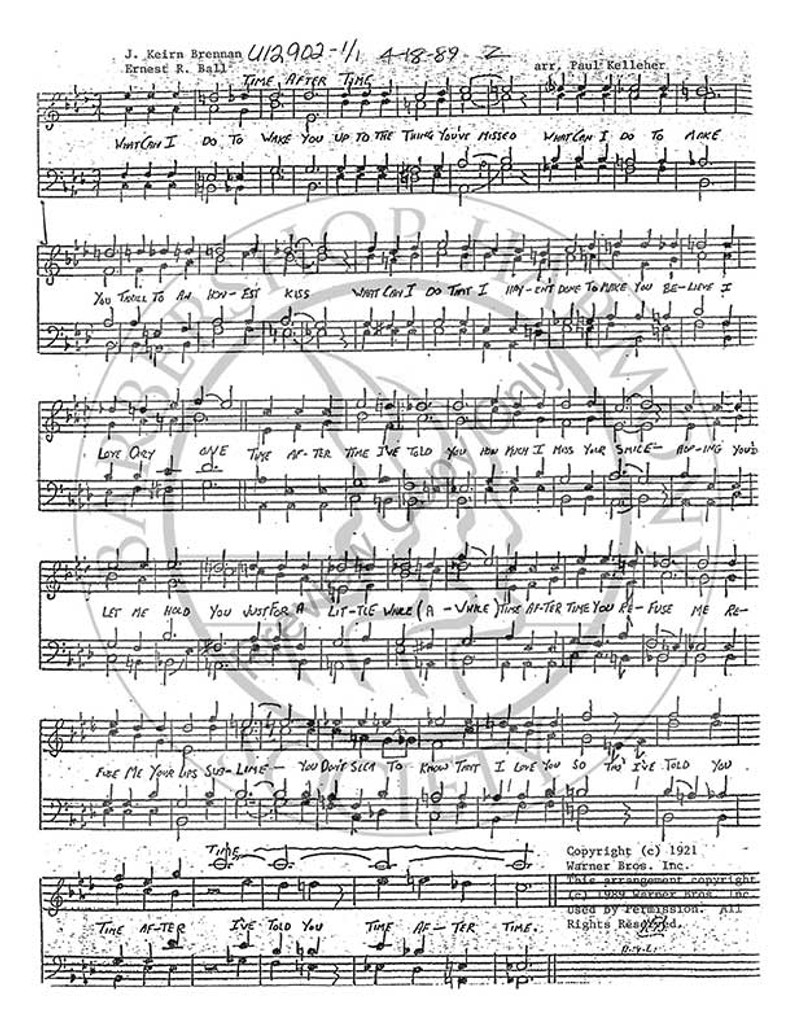 Time After Time 2 (TTBB) (arr. Paul Kelleher)-Download-UNPUB
