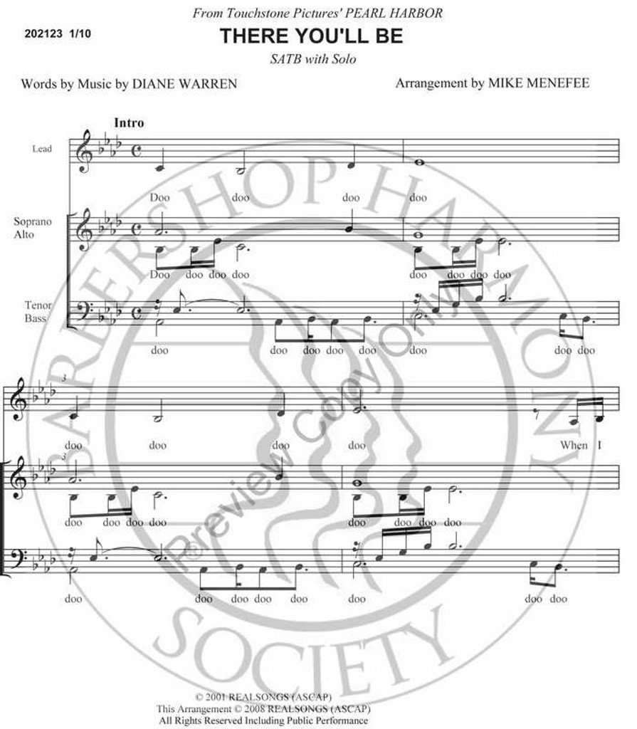There You'll Be (SATB) (arr. Mike Menefee)-Download-UNPUB