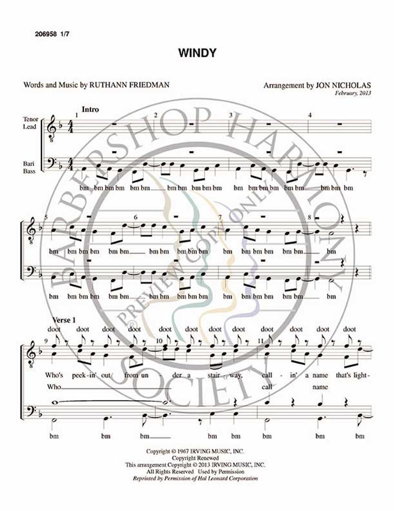 Windy (TTBB) (arr. Jon Nicholas)-Download-UNPUB