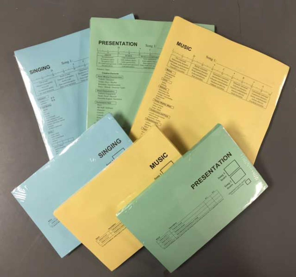 C&J Singing Scoring Form (Short Form / Blue / CJ28)) Pkg/100