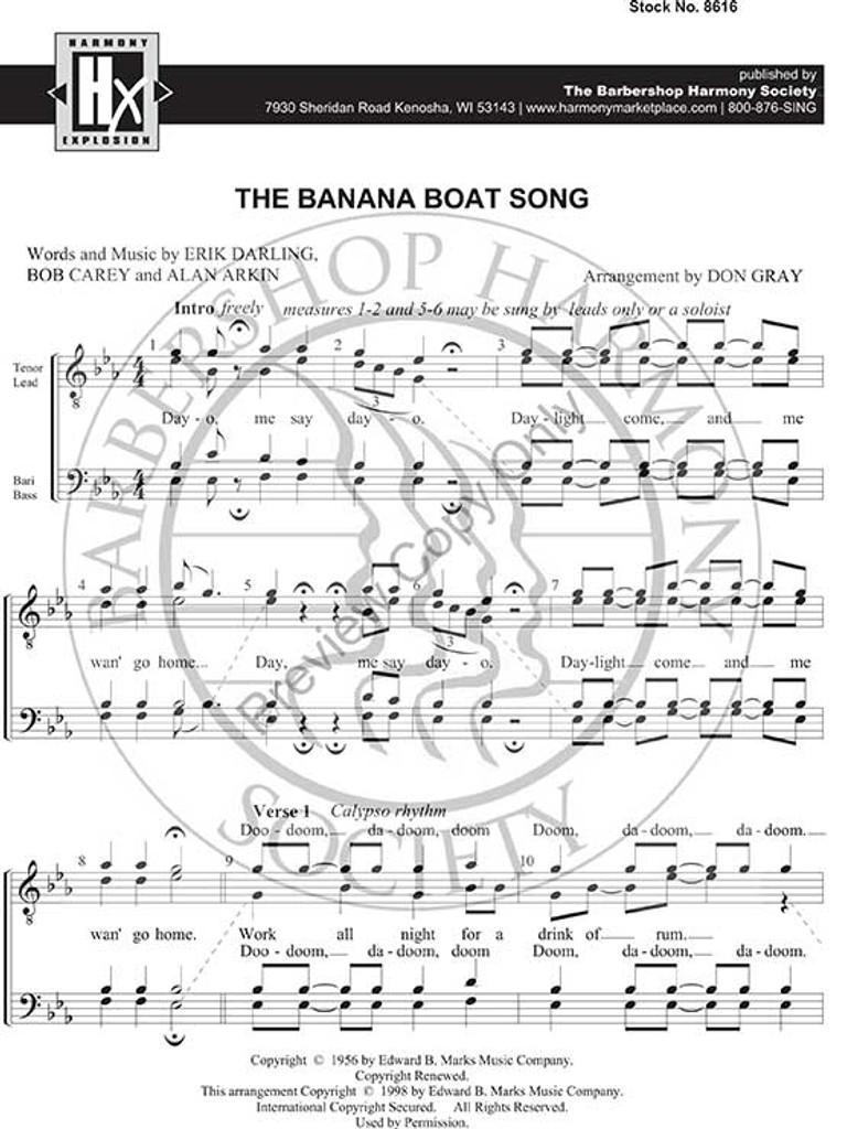 The Banana Boat Song (TTBB) (arr  Gray) - Download