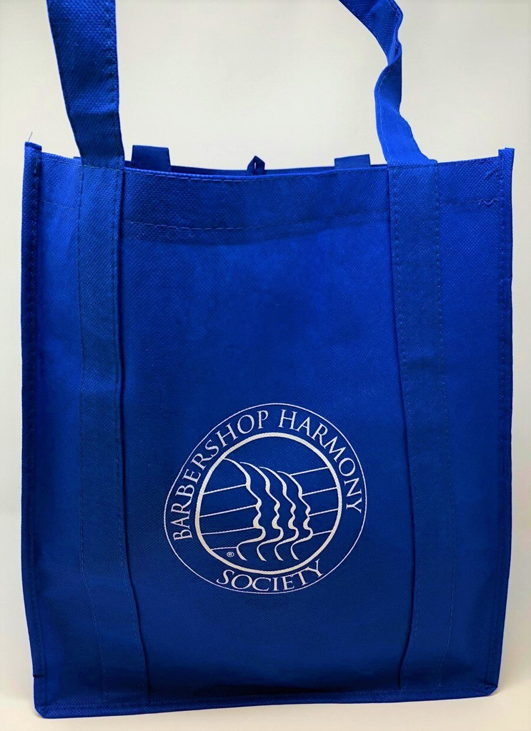 "Use this BHS logo imprinted reusable shopping tote instead of store packaging to reduce waste.   Also a perfect alternative for grocery shopping! (As opposed to plastic bags that will probably just be thrown away)  Textured, 100gsm non-woven polypropylene tote features a spacious interior with a HUGE 10"" gusset!  Removable plastic insert fits snugly in the bottom of the shopping bag for added durability and support.  Reinforced carrying handles measure 20"". 15"" x 13"""