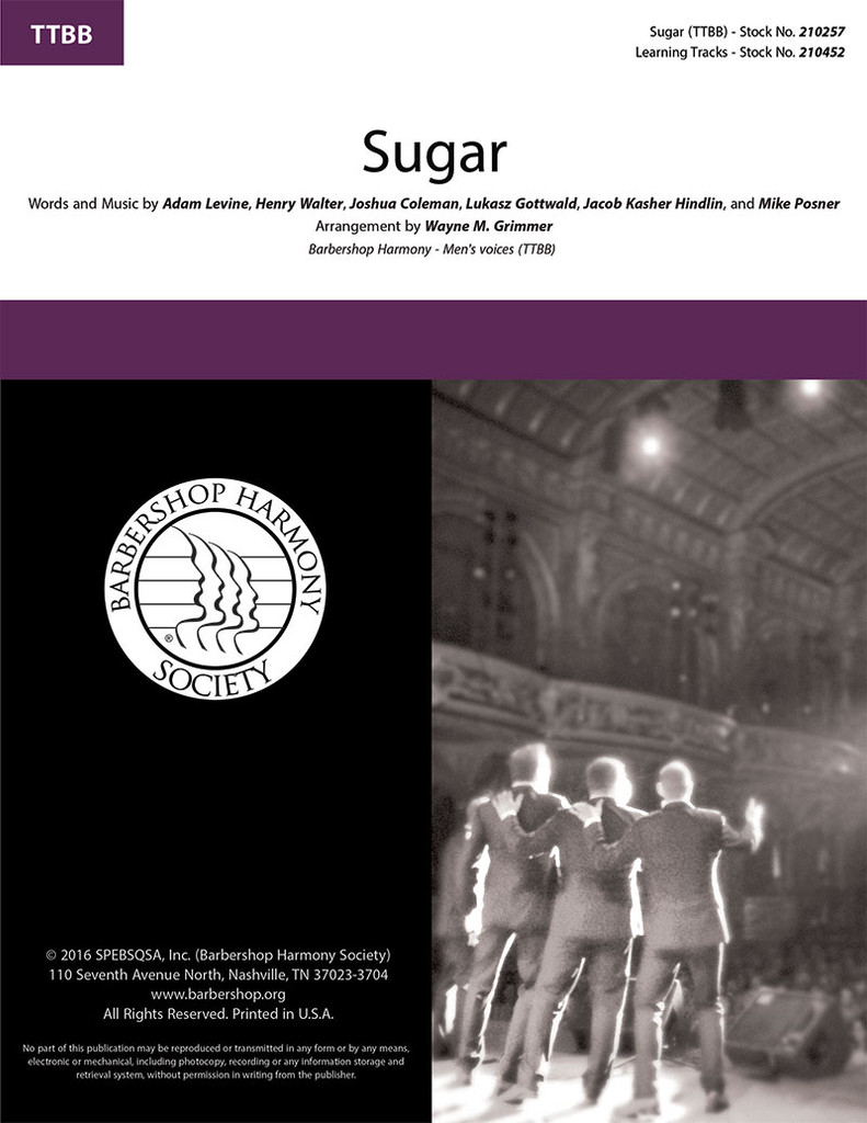 Sugar (TTBB) (arr. Grimmer)