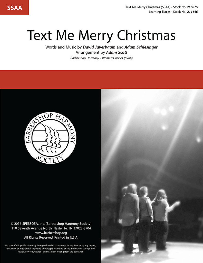 Text Me Merry Christmas (SSAA) (arr. Scott)