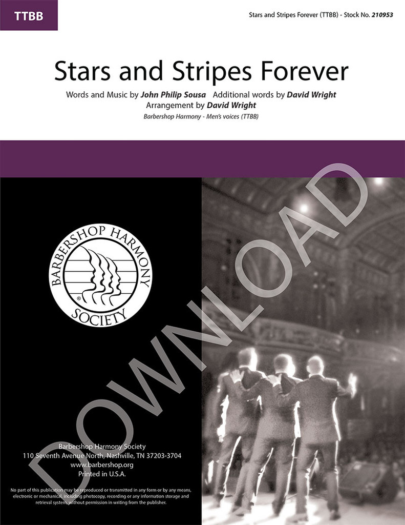 Stars and Stripes Forever (TTBB) (arr. Wright) - Download