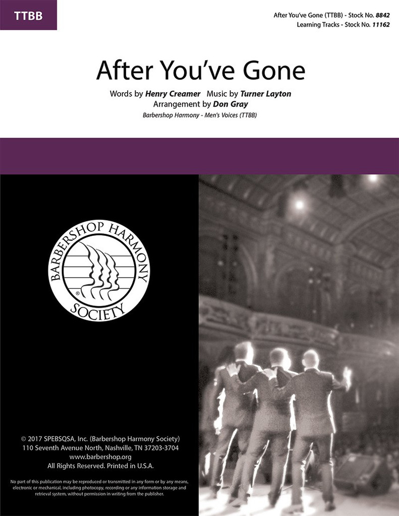 After You've Gone (TTBB) (arr.  Gray) - Download
