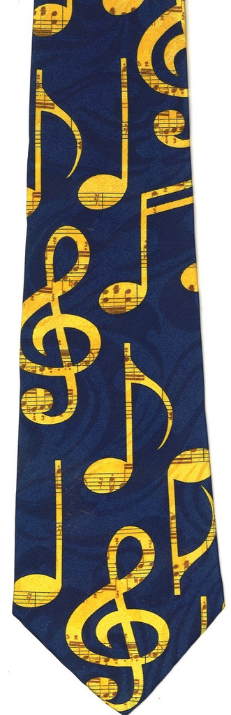 Tie - Musical Notes All Over (Navy)