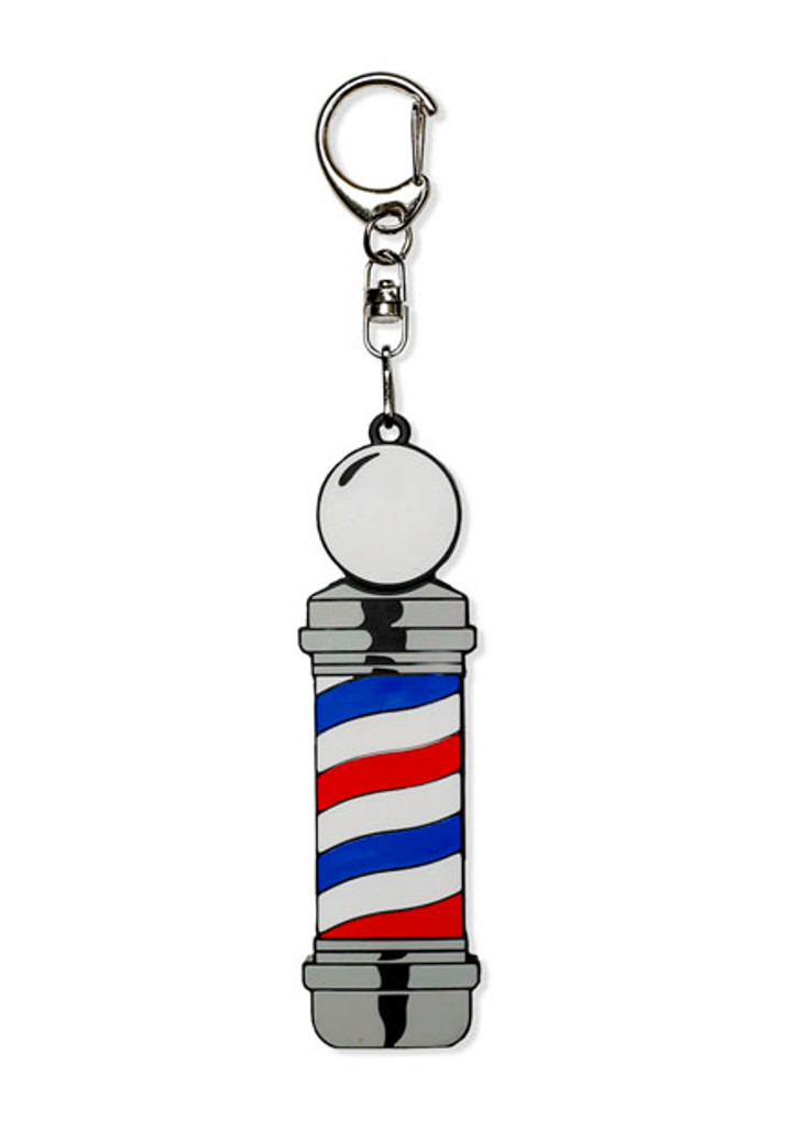 Keep important pictures, documents, files, or music on this custom-molded barberpole flash drive.  Made as a keyring and designed uniquely to blend in.   Flash drive features 8 GB of memory space.