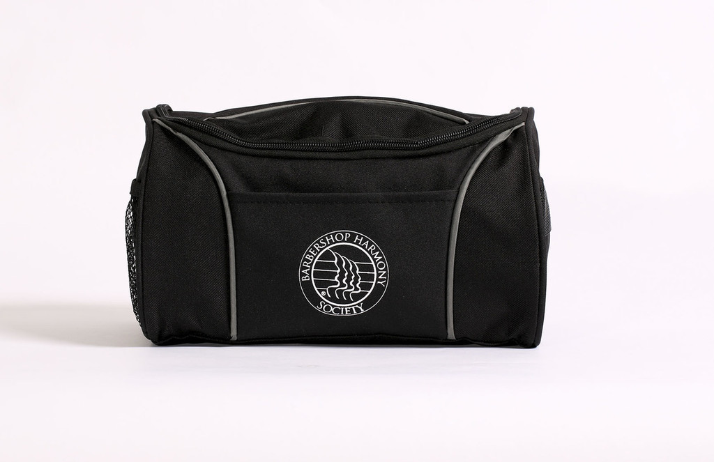 """This amenity case is the perfect gift for the frequent traveler.  Interior features a large mesh pocket and waterproof zippered pocket with an additional side mesh pocket, front pocket, and grab handle on the outside.  To hang, simply unzip the main compartment, and slip the interior strap over the hook.  Can be used for hanging toiletries or as an expanded cosmetics bag.   Also pairs well with the BHS Voyager Shoe Bag as a part of the Voyager Travel Series.   Dimensions: 10.25"""" L x 6"""" W"""