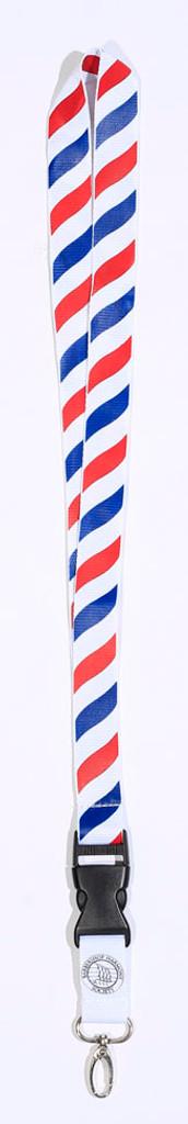 Barberpole Keychain Lanyard