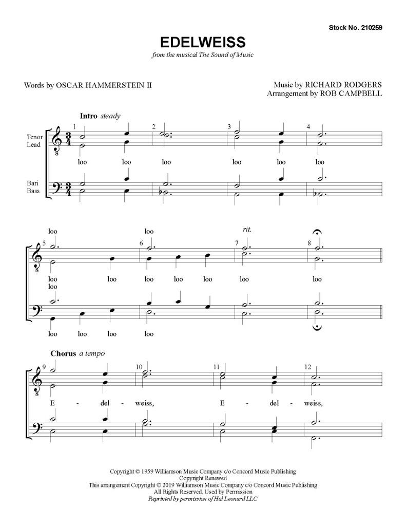 Edelweiss (TTBB) (arr. Campbell)