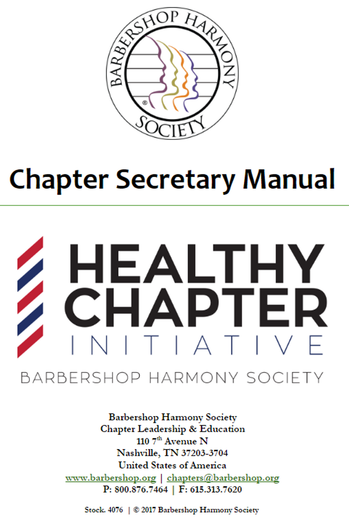Chapter Secretary Manual