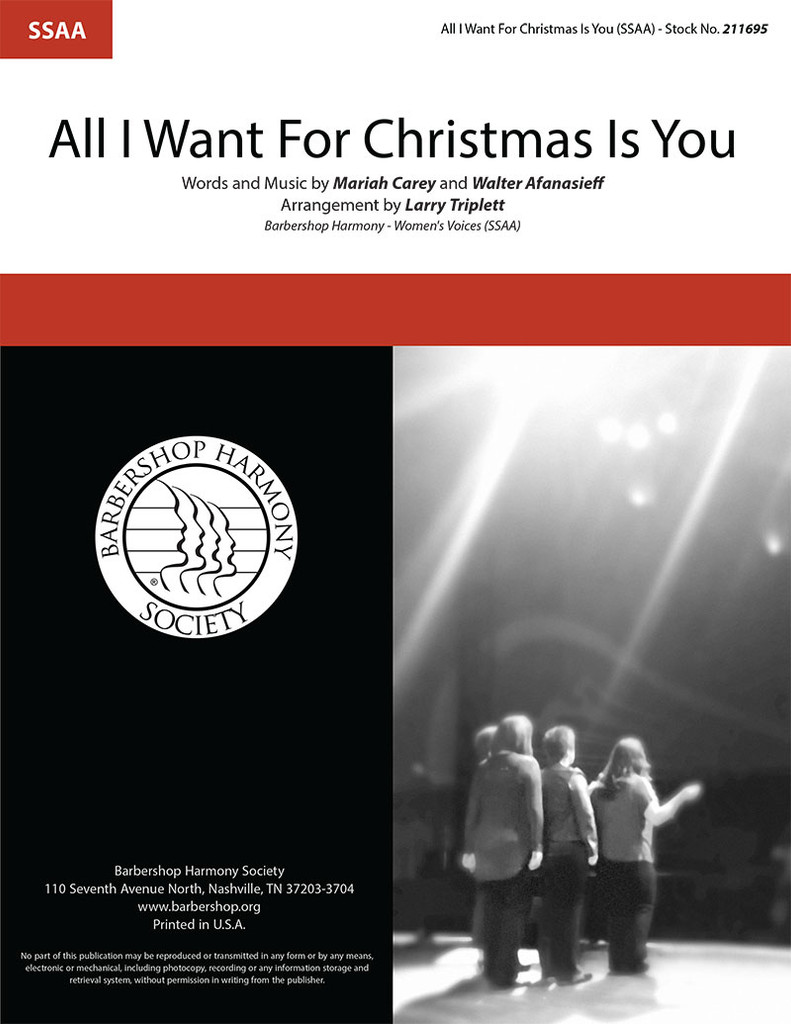 All I Want For Christmas Is You (SSAA) (arr. Triplett)