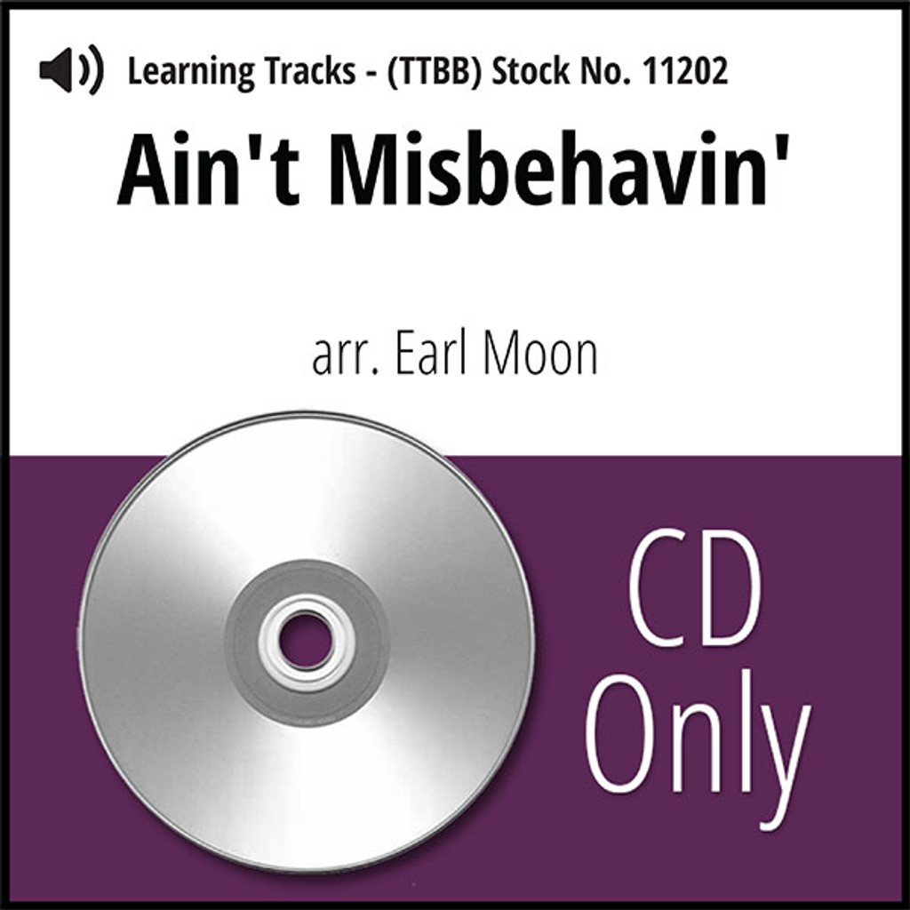 Ain't Misbehavin' (TTBB) (arr. Waesche) - CD Learning Tracks for 7360