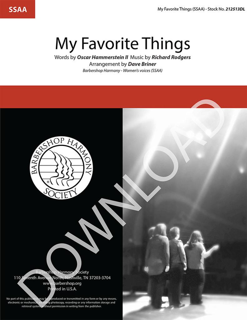 My Favorite Things (SSAA) (arr. Briner) - Download