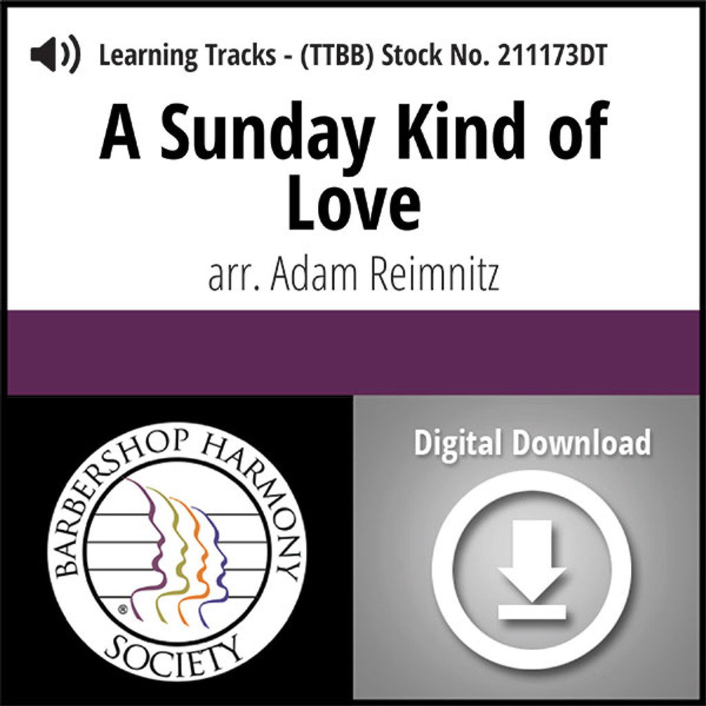 A Sunday Kind of Love (TTBB) (arr. Reimnitz) - Digital Learning Tracks - for 211172