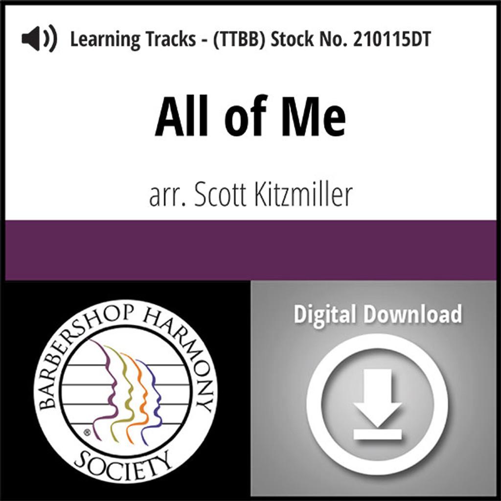 All of Me (TTBB) (arr. Kitzmiller) - Digital Learning Tracks - for 210089