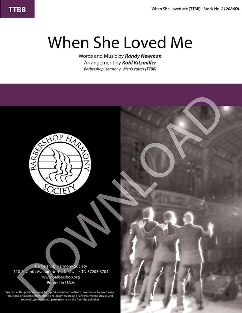When She Loved Me (TTBB) (arr. Kitzmiller) - Download