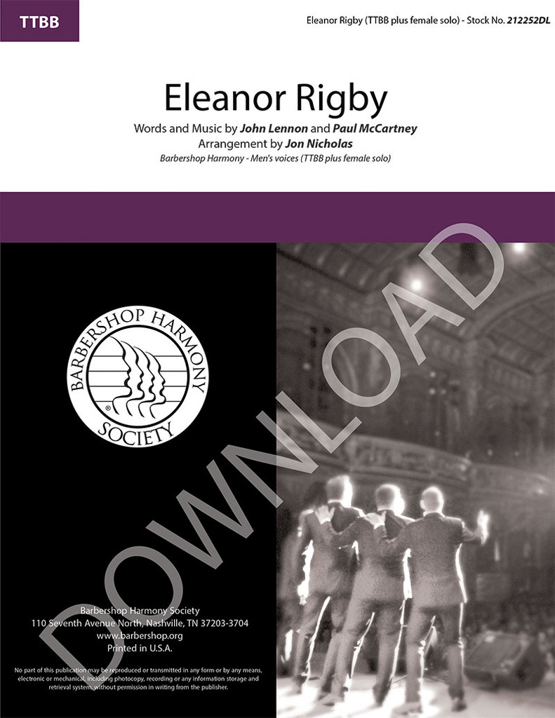 Eleanor Rigby (TTBB) (arr. Nicholas) - Download